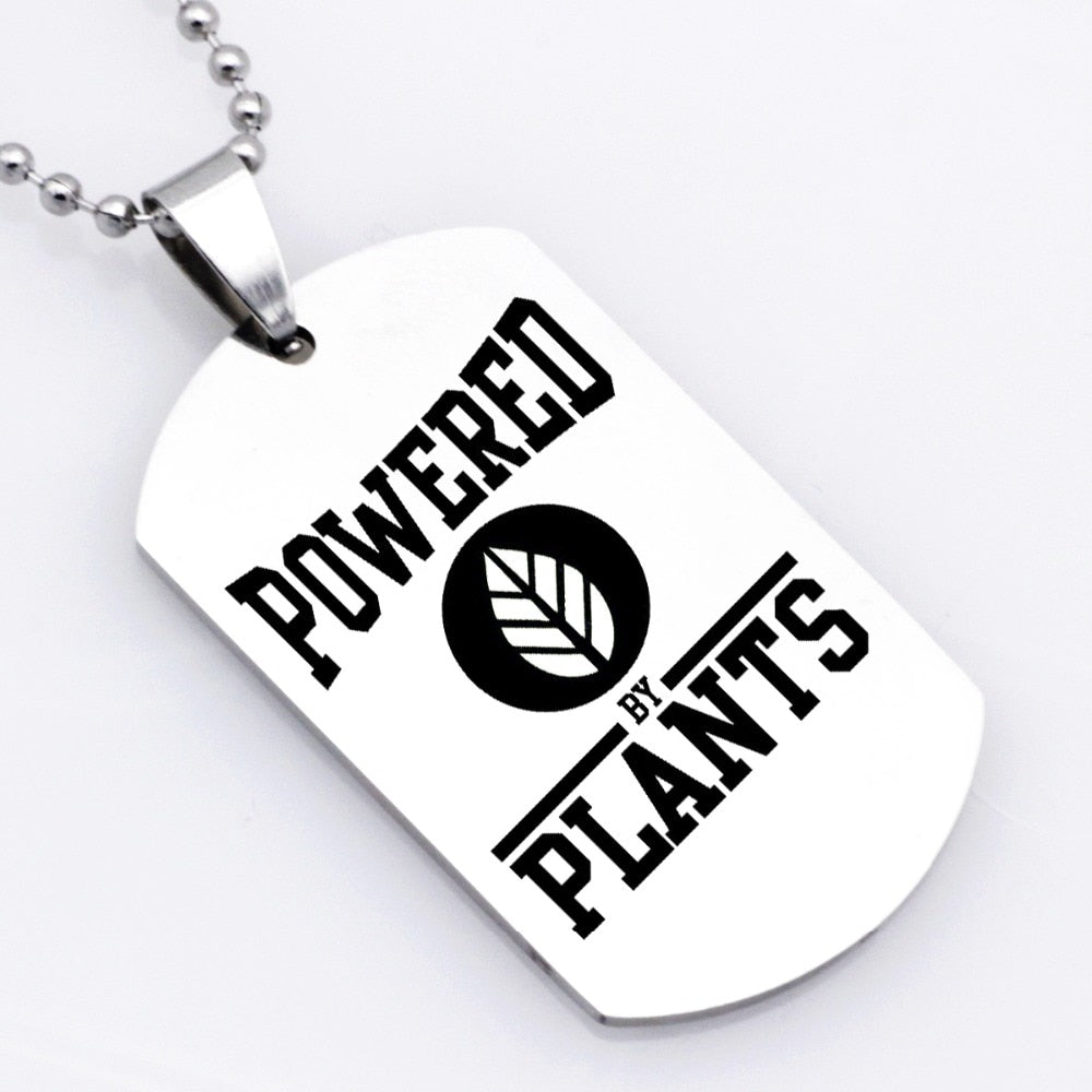 Powered By Plants Necklace Keychain - Earth Ark Boutique