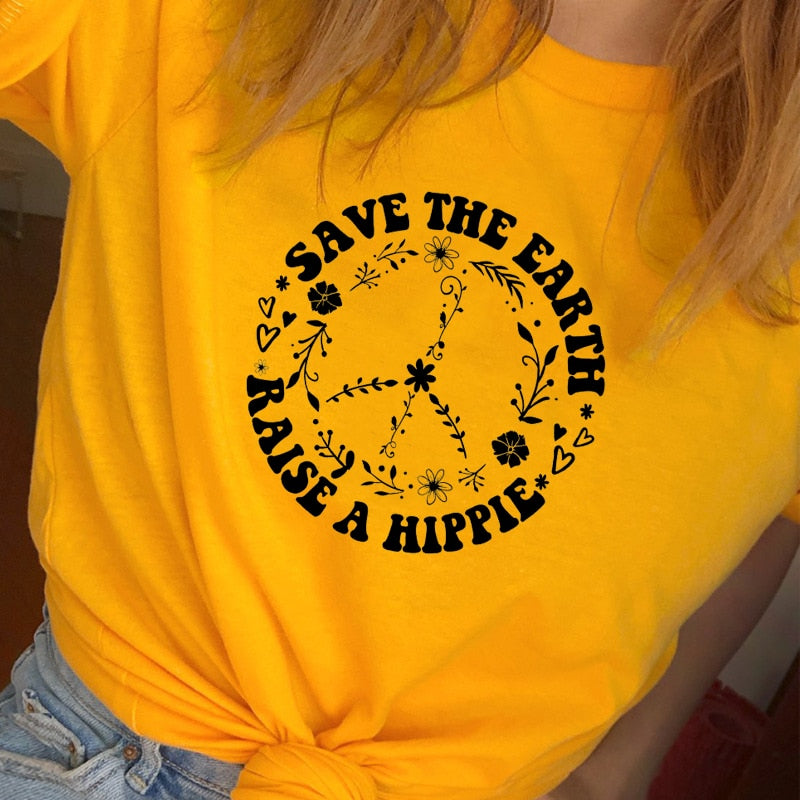 Save The Earth Raise A Hippie Women's T-shirt - Earth Ark Boutique