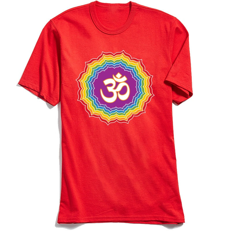 Om Chakras Mandala Men's T-shirt - Earth Ark Boutique