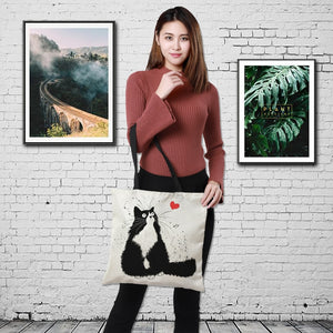 Cute Cat Print Tote Bag - Earth Ark Boutique