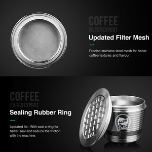 4PC/Set Nespresso Stainless Steel Refillable Coffee Capsule with Tamper - Earth Ark Boutique