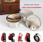 Stainless Steel Refillable Metal capsule Compatible with Dolce Gusto Machine - Earth Ark Boutique