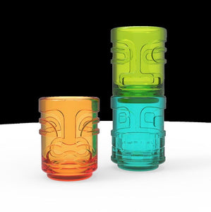 True Zoo - Tiki Trio™ Shot Glasses in Assorted Colors by TrueZoo