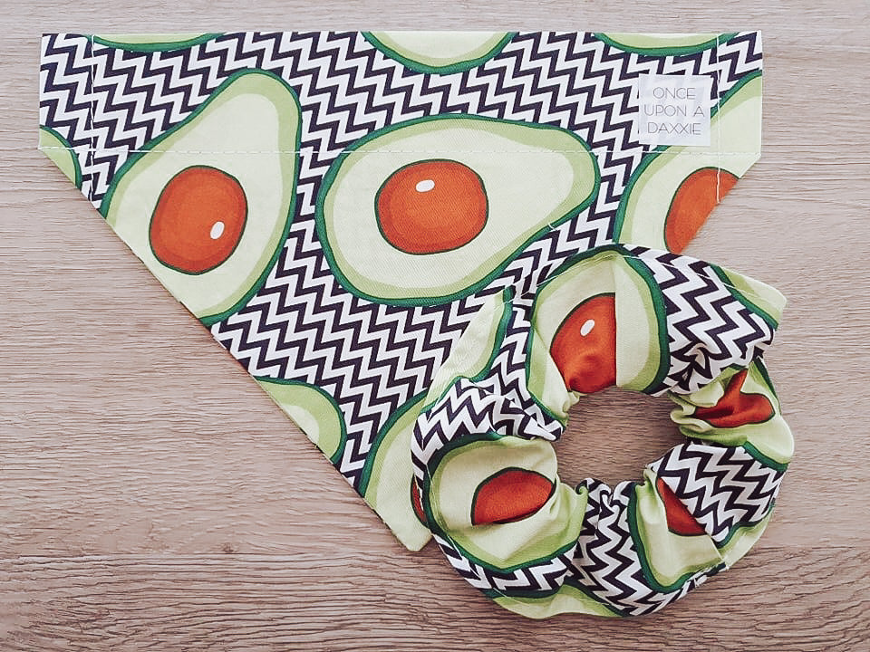 Avocado dog bandana