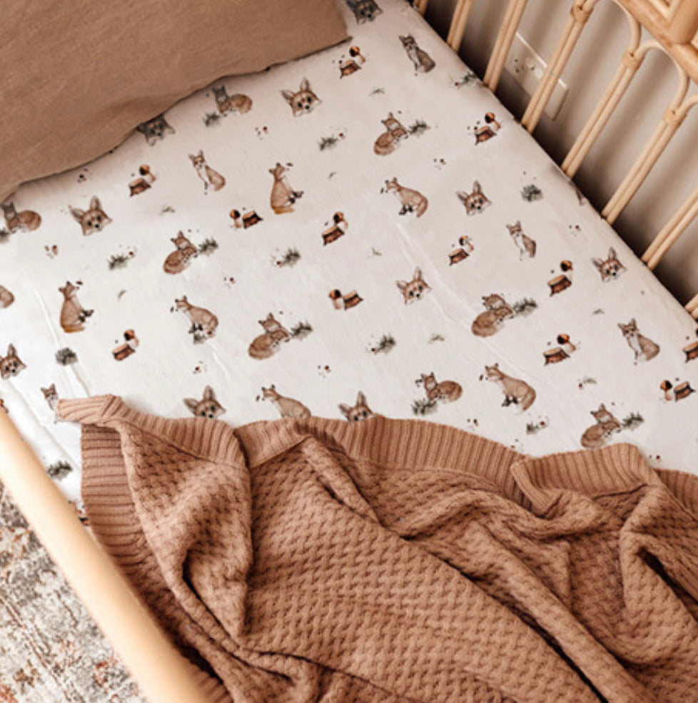 Fox | Fitted Cot Sheet