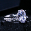 ELLIPTICAL SPARK - DAZZLING OVAL STONE RING
