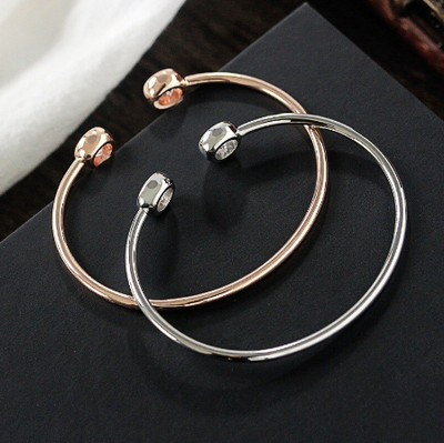 SIMPLE DELIGHT - ADJUSTABLE FASHION CUFF BRACELET FOR WOMEN WITH STONE FITTING