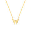 WINGS OF BEAUTY - GOLD SILVER PLATED BUTTERFLY NECKLACE