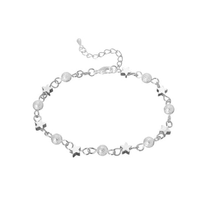 THE STAR CLUSTER - STYLISH SILVER PLATED MOON STARS BRACELET