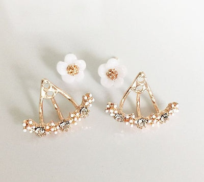 FELICITY BOUQUET - DOUBLE SIDED CRYSTAL EARRINGS