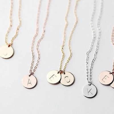 Letter Circle Initial Pendant NEW Fast Delivery