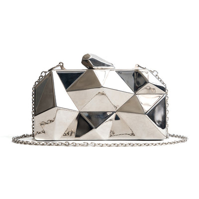 RADIANT SHADOWS -HEXAGON CROSSBODY CLUTCH