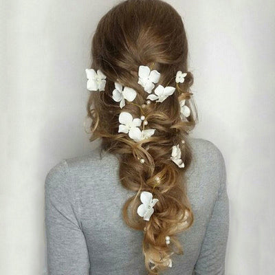 THE FLOWER CHILD - HANDMADE FLORAL PEARL HAIR-DRESSING JEWELRY