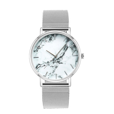 ALABASTER HOLIDAY - LUXURY MARBLE METAL STRAP WRIST WATCH