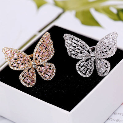 RESTING BUTTERFLY - LUXURY BUTTERFLY RING