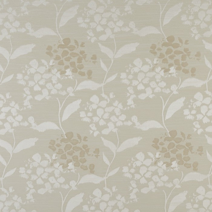 Hydrangea curtain fabric in oyster