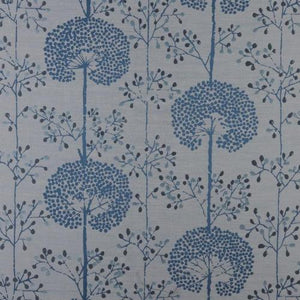 Moonseed curtain fabric in bluebell