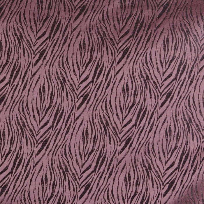 Tiger curtain fabric in berry