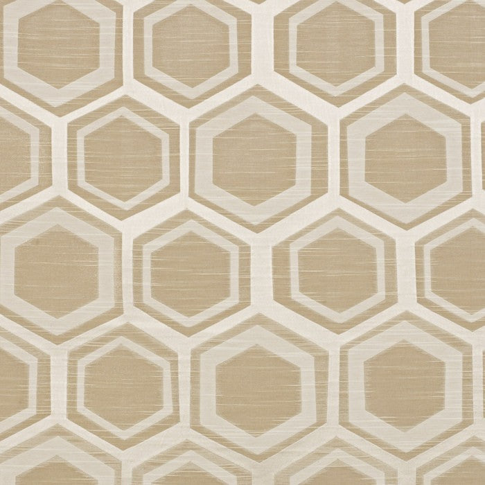 Navoi curtain fabric in champagne