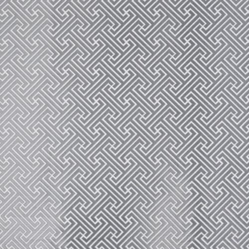 Key curtain fabric in silver