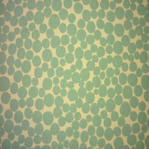Fizz curtain fabric in aqua