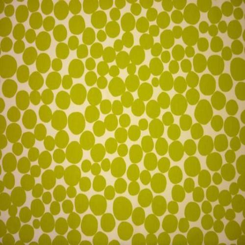 Fizz curtain fabric in lime