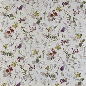 a repetitive digital floral cotton print fabric featuring a tuileries design in quartz by Prestigious Tetxiles on a 100% cotton clot