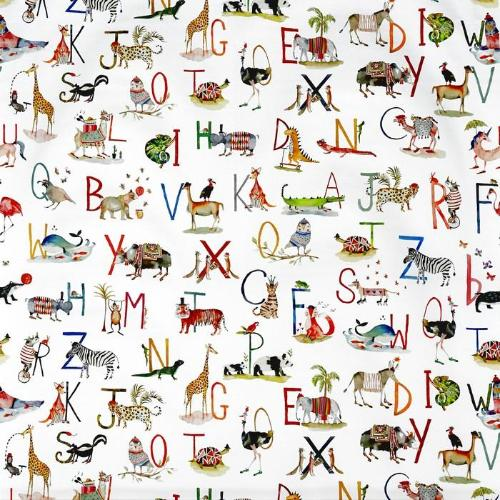 Prestigious Textiles Animal Alphabet Curtain Fabric | Paintbox - Designer Curtain & Blinds