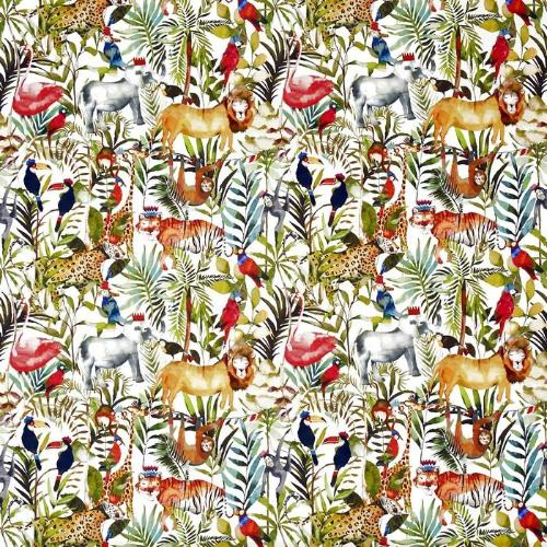 Prestigious Textiles King of the Jungle Curtain Fabric | Safari - Designer Curtain & Blinds