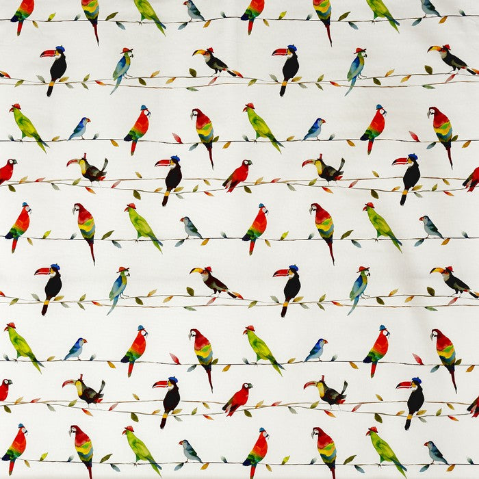 Toucan Talk curtain fabric in paintbox