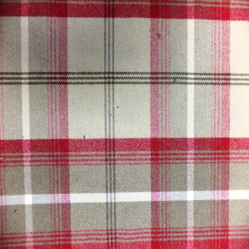 Porter & Stone Balmoral Curtain Fabric | Cranberry - Designer Curtain & Blinds
