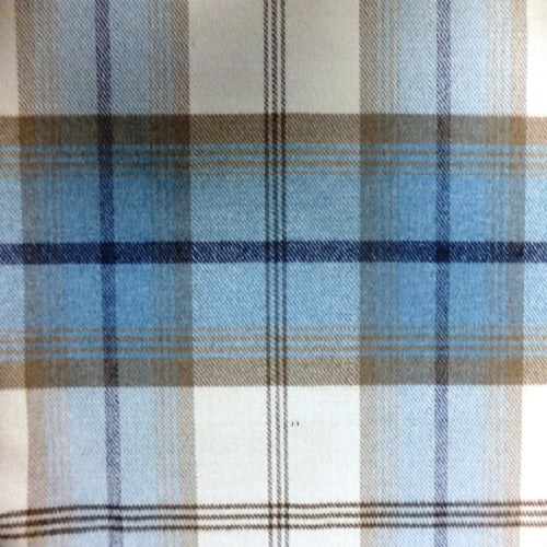 Balmoral curtain fabric in sky