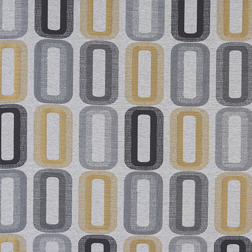 Fryetts Dahl Curtain Fabric | Ochre - Designer Curtain & Blinds