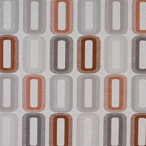 Fryetts Dahl Curtain Fabric | Terracotta - Designer Curtain & Blinds