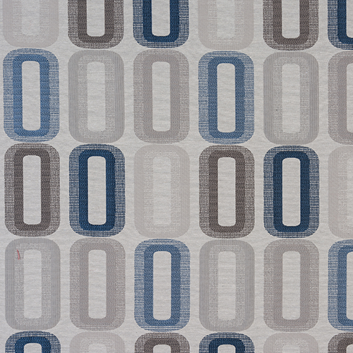 Fryetts Dahl Curtain Fabric | Blue - Designer Curtain & Blinds