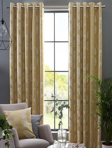 Belfield Design Studio Gingko Ready Made Curtains | Ochre
