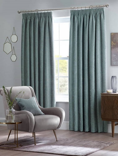 Belfield Design Studio Langley Ready Made Curtains | Duck Egg