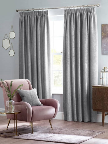 Belfield Design Studio Langley Ready Made Curtains | Silver