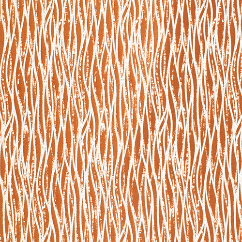Fryetts Linear Curtain Fabric | Burnt Orange - Designer Curtain & Blinds