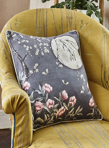 Moonlight Midnight Blue Cushion | The Chateau