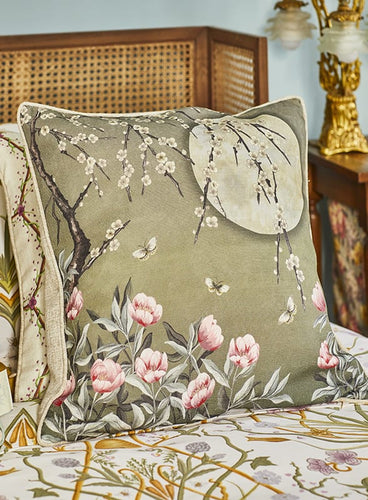 Moonlight Moss Green Cushion | The Chateau