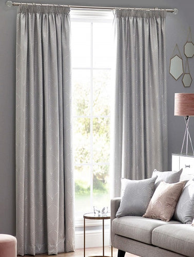 Belfield Design Studio Metro Ready Made Curtains | Silver