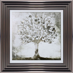 Money Tree Silver Sterling | 3 Step Charcoal Frame | 75cm x 75cm
