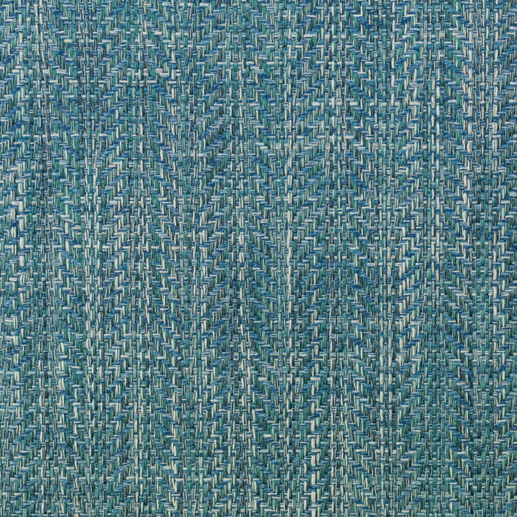 Fibre Naturelle Oxford Curtain Fabric | Monday Blues - Designer Curtain & Blinds