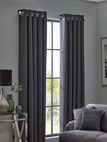 Belfield Design Studio Orion Ready Made Curtains | Graphite
