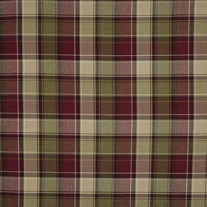 iLiv Argyle Curtain Fabric | Claret - Designer Curtain & Blinds