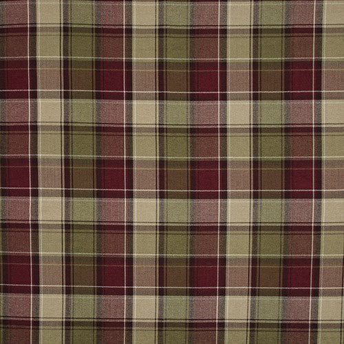 Argyle curtain fabric by iLiv in Claret