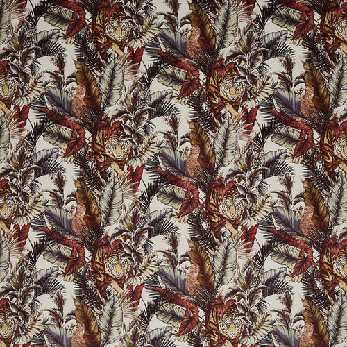 Bengal Tiger curtain fabric in Safari by Prestigious Textiles