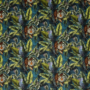 Bengal Tiger curtain fabric in Twilight by Prestigious Textiles
