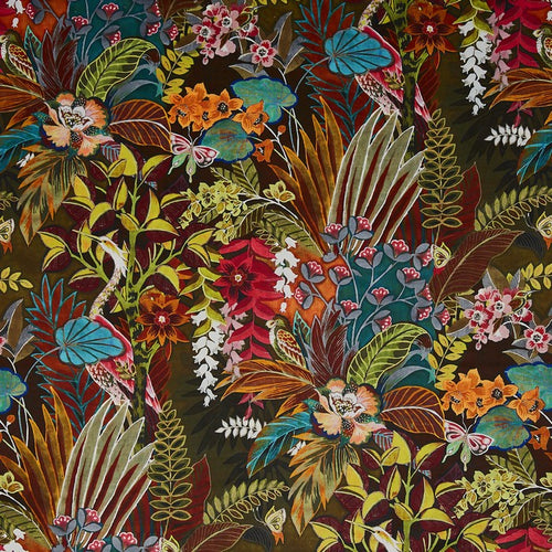 Hidden Paradise curtain fabric in Calypso by Prestigious Textiles